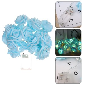 Battery Operated LED Rose Flower Christmas Holiday String Lights For Valentine Wedding Decoration 10/20 LED Lamp Gift