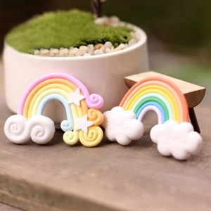 Micro Landscape Decorations Mini Rainbow Garden Landscaping