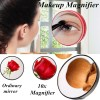 8.8cm Ten Times Magnification Makeup Mirror with Suction Cup