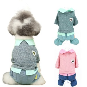 Pet Clothing Dog Cat Four Legs Style For Spring Autumn Small Puppy Green Pink