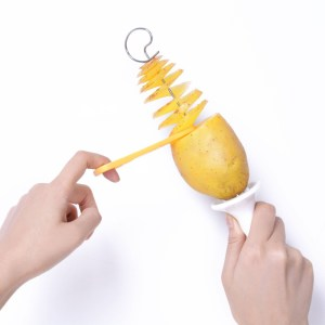 Potato Spiral Cutter Slicer Spiral Potato Chips PRESTO 4spits Potato Tower Making Twist Shredder Cooking Tools