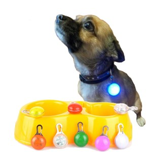 Pet Night Safety LED Flashlight,Push Button Switch Glow In The Dark Bright Pets Supplies Accessories Cat Dog Collar Leads Lights