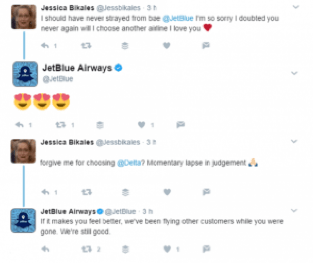 jetblue online customer reviews example