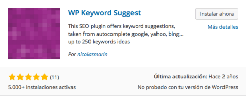 plugin wp keyword suggest