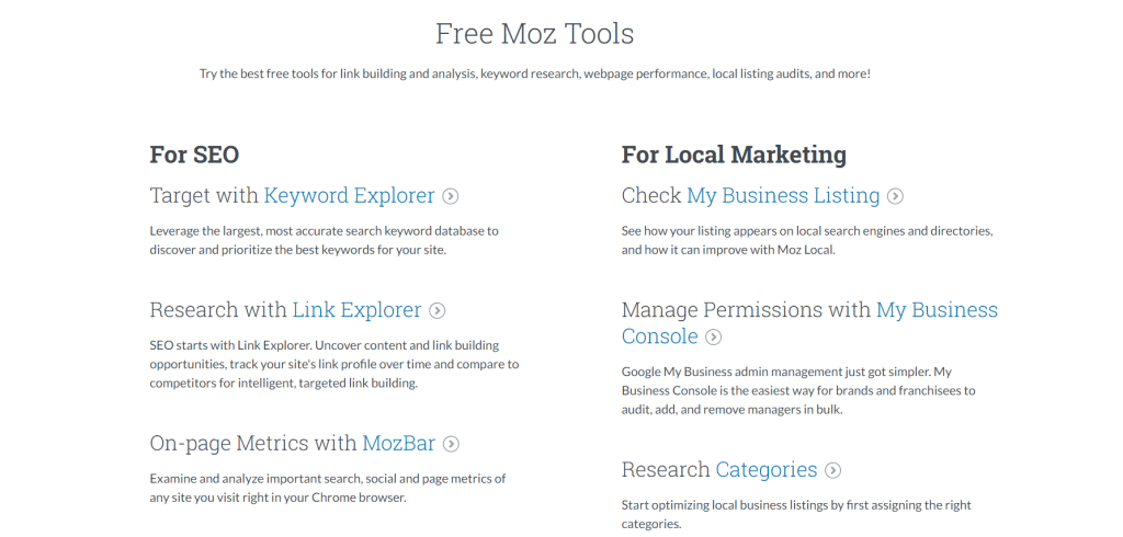 Everything you ever needed to know about SEO for E-Commerce - Moz Tools