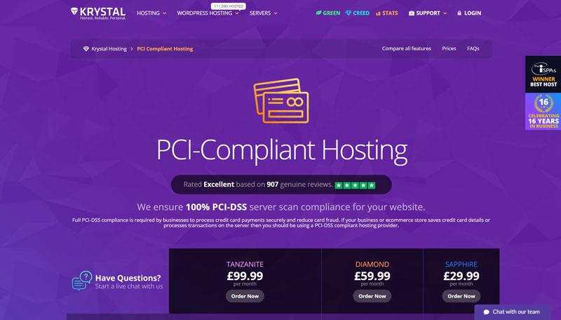 Krystal PCI Compliant Hosting