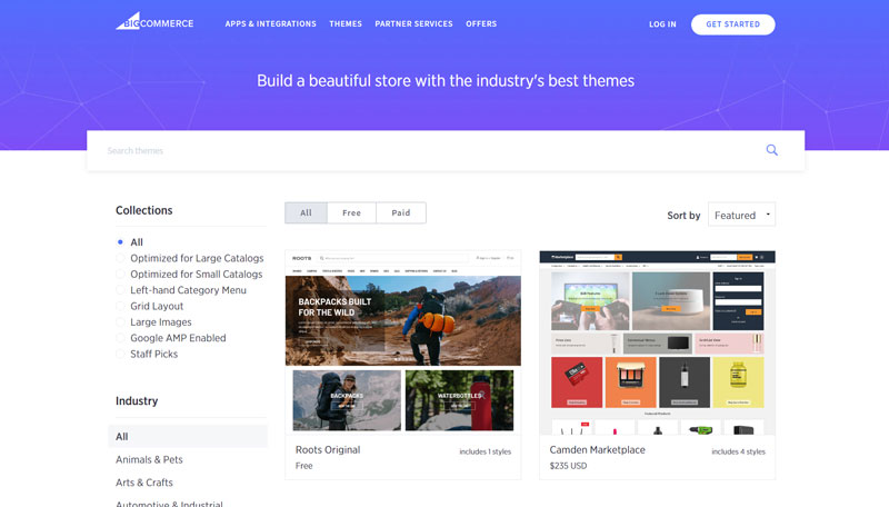 Bigcommerce Theme Selection