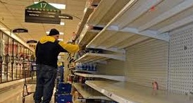 Supermarket Shelves Water West Virginia
