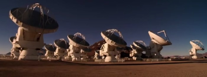 The federal budget paid for 25 of these telescopes in Chile.