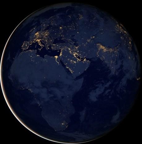 Productivity satellite night picture