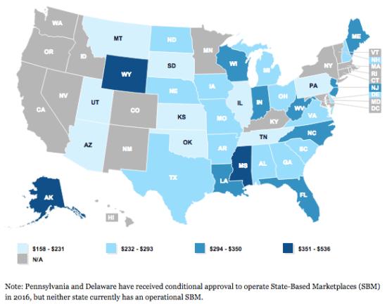 Per ACA enrollee, average tax credit