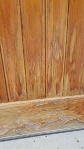Refinishing wood garage doors