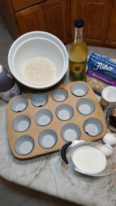 Ingredients for Heart Healthy Oat Bran Muffins
