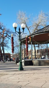 The Santa Fe square without crowds