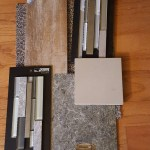 Carpet, tile, laminate and solid surface large size samples.