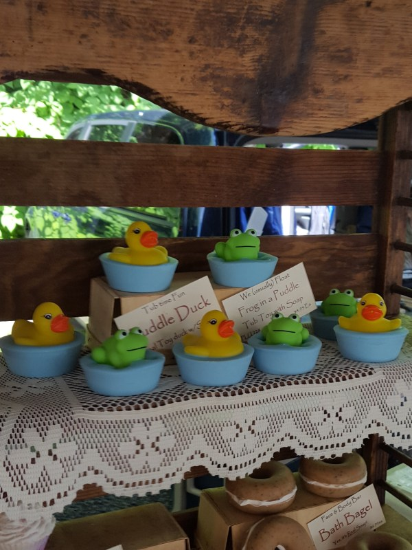 Soaps shaped like ducks
