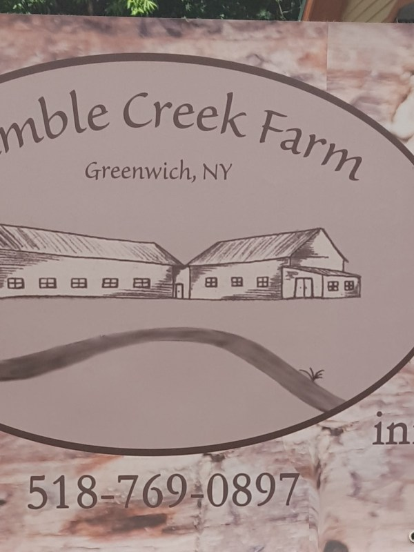 Sign for Ramble Creek Farm