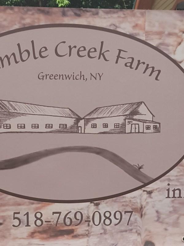 Sign for Ramble Creek Farm