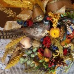 Floral Thanksgiving cornucopia