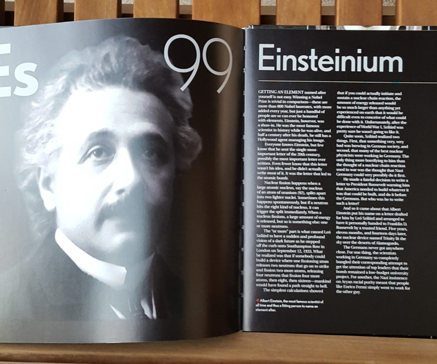 Einsteininium page from The Elements by Theodore Gray
