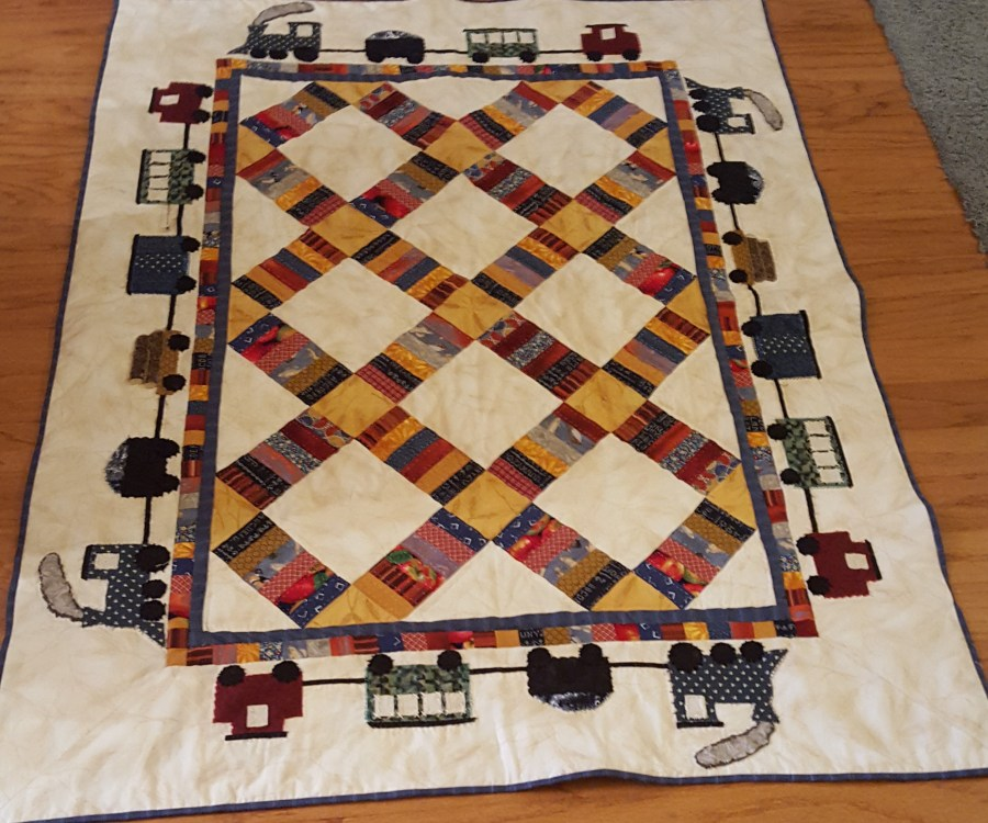 Quilt with binding added