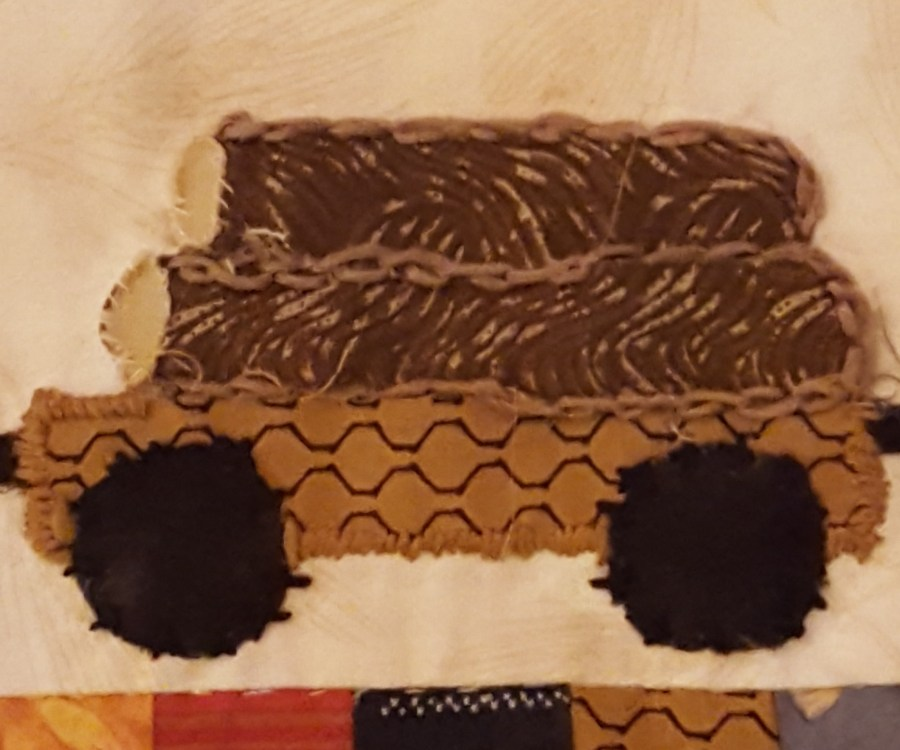 fabric log car