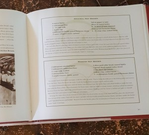 Cook book page with recipes
