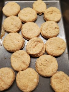 Biscuits in pan