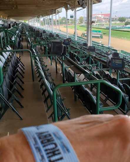 Empty stands at Churchill Downs