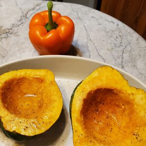 Acorn squash and Orange Bell Pepper