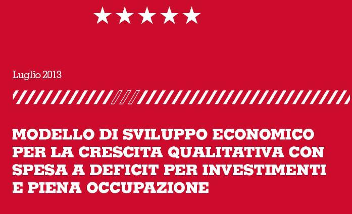Modello di sviluppo economico per la crescita qualitativa con spesa a deficit per investimenti e piena occupazione