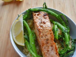 Pan Seared Salmon with Soy Ginger Glaze