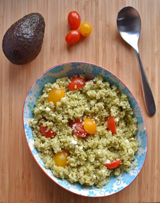 Quick and Easy Quinoa with Avocado Dressing