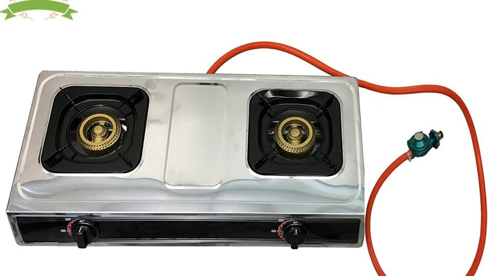 10. #1 Double Burner Stove Gas Propane Stove Cooktop Commercial Outdoor Whirlwind Burner Camp Cooking
