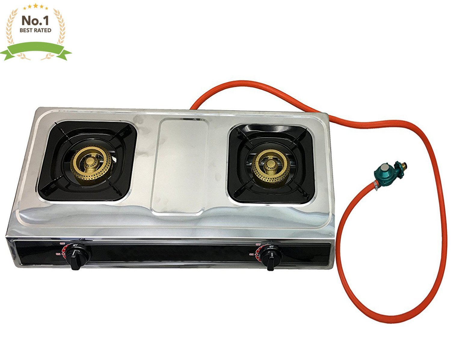 #1 Double Burner Stove Gas Propane Stove Cooktop Commercial Outdoor  Whirlwind Burner Camp