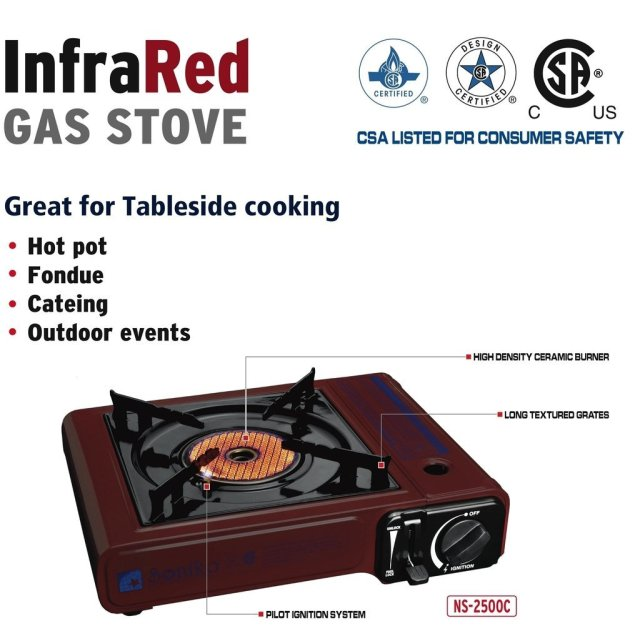 5. Portable Gas Stove with Carry Case