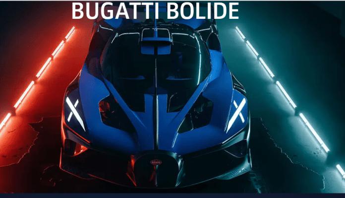 De acordo com a montadora, o Bolide foi projetado para ser excepcionalmente baixo, assim como em muitos veículos esportivos.(Foto: Site Bugatti)