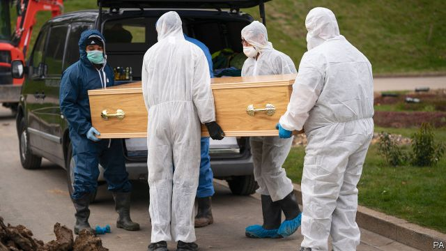 Funerals - How covid-19 is changing funerals | Britain | The Economist
