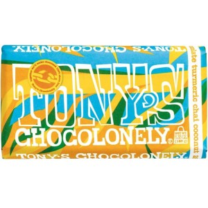 Tony's Chocolonely - 28% White Tumeric Chai Coconut - 6.35oz Bar