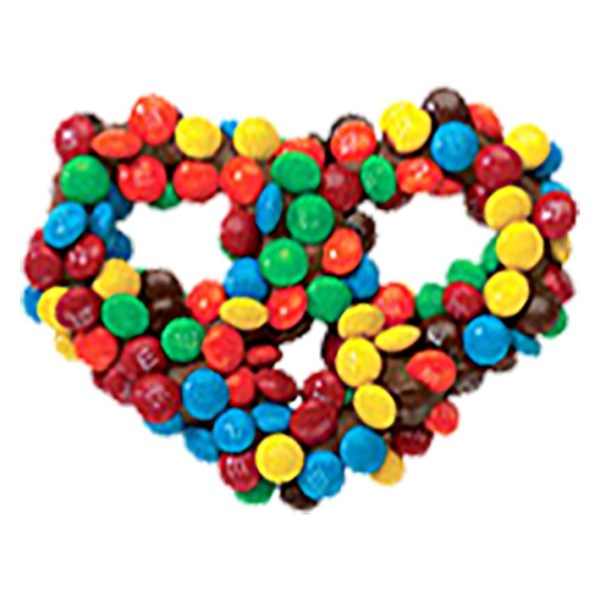 Chocolate Covered Pretzels - Milk Chocolate with M&M's