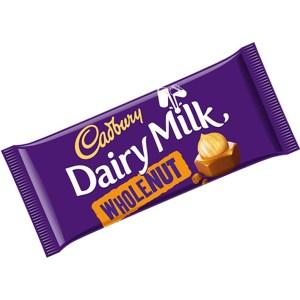 Cadbury Dairy Milk Whole Nut - 200g Bar