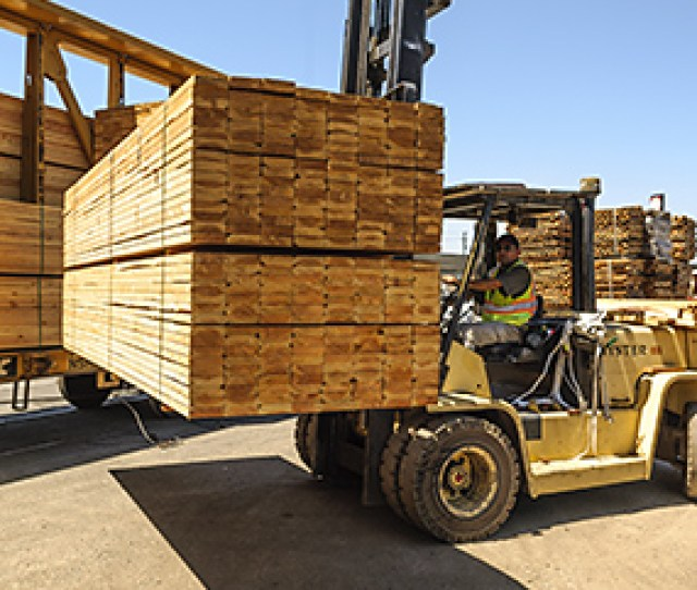 Unloading A Railcar Of Framing Lumber In Our Oakland Yard