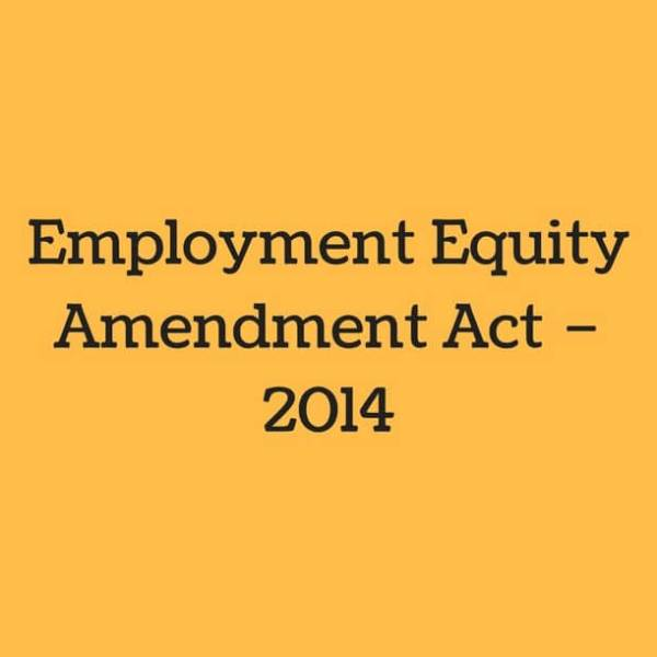employment equity act 2014