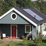 vakantiehuisje met zonnepanelen