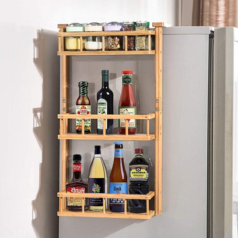 ecooe bamboo spice rack hanging shelf