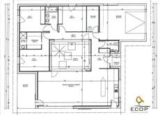 Plan du patio d'une maison RT 2012 du constructeur CCMI Ecop Habitat