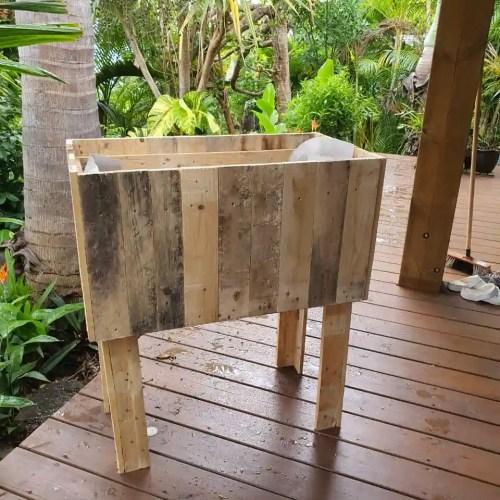 Kit jardiniere JardiPAL en bois de palettes
