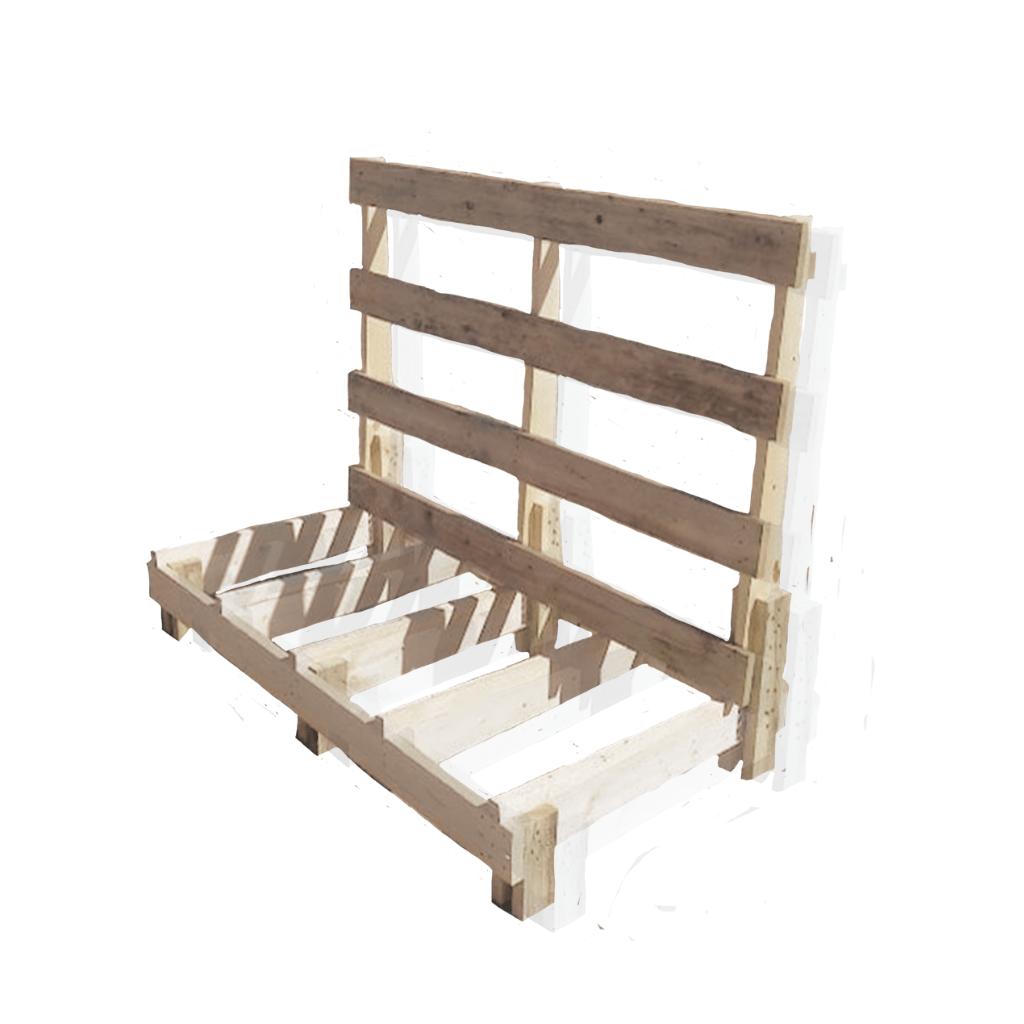 Support en bois de palette frontale sans fonds