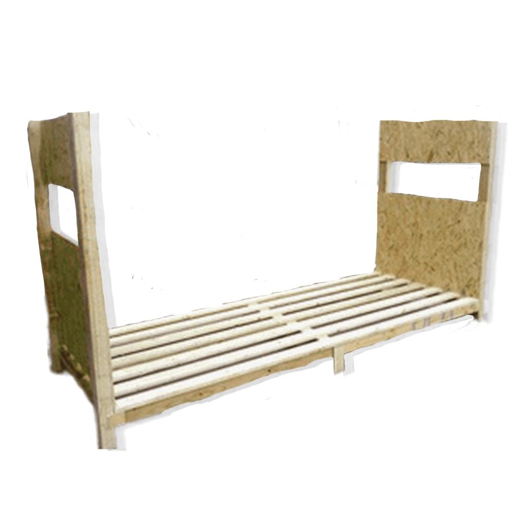 Caisses avec support latéraux bois de palettes