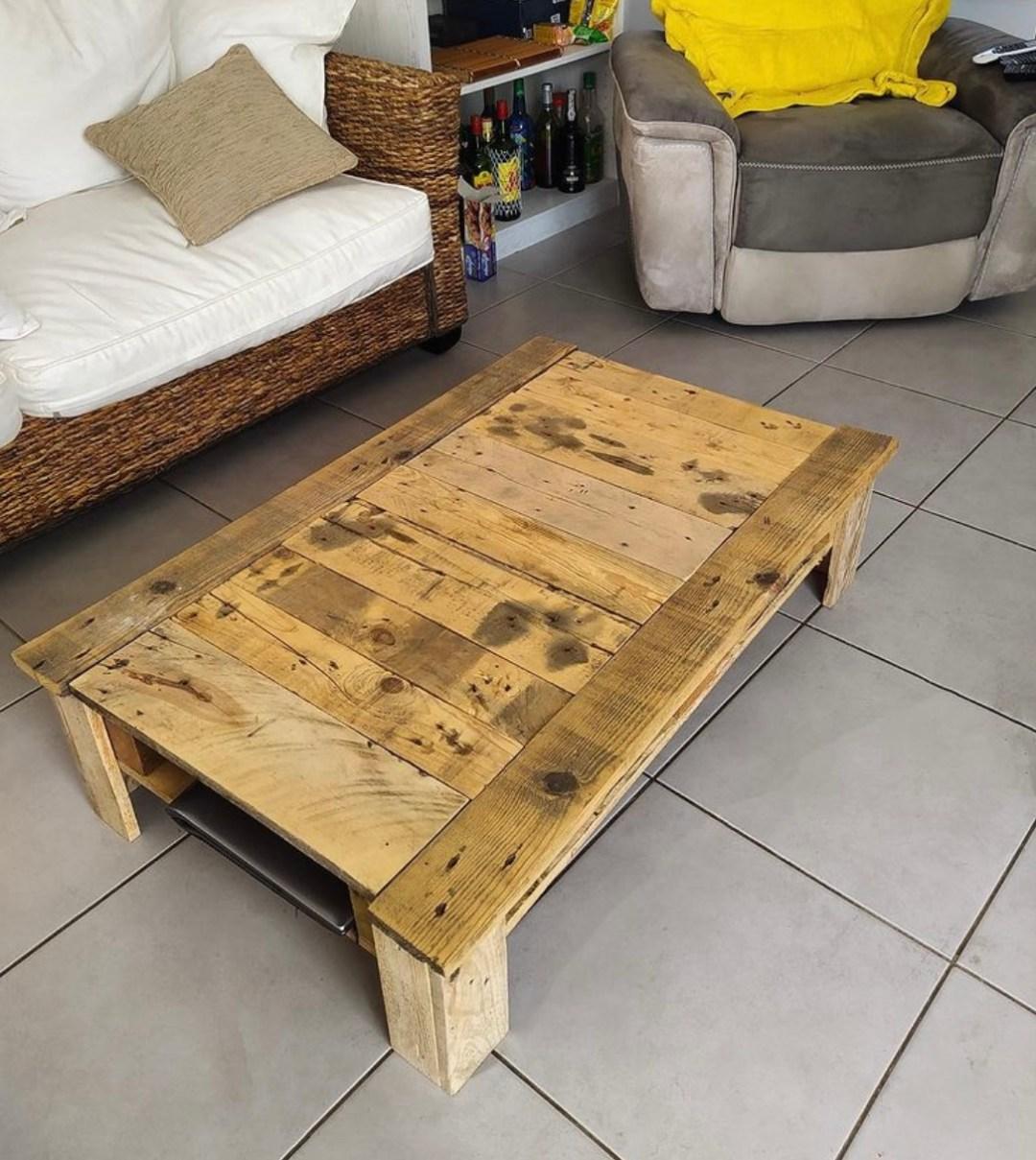 meubles à réaliser avec des planches de palettes